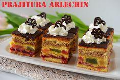 Prajitura Arlechin (Prajitura cu nuca si rahat) - Retete culinare by Teo's Kitchen Romanian Desserts, Romanian Food, Romanian Recipes, Lidl, Ricotta, Gem, French Toast, Sweet Treats, Cheesecake