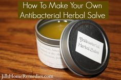 How to Make Your Own Antibacterial Salve - Have you fallen in love with these herbal powerhouses that can do on cuts, bruises, burns and scratches? I really like this - how to make your own at home!