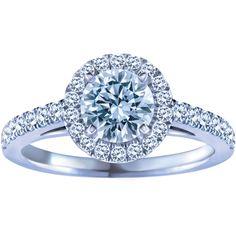 0.90 Carat Blossom Cut™ Canadian Centre Diamond, 14k White Gold Engagement Ring