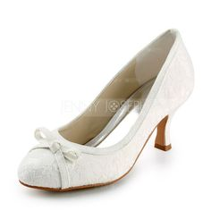 Wedding+Shoes+-+$39.99+-+Women's+Lace+Satin+Spool+Heel+Closed+Toe+Pumps+With+Bowknot+Sparkling+Glitter+(047005740)+http://jennyjoseph.com/Women-S-Lace-Satin-Spool-Heel-Closed-Toe-Pumps-With-Bowknot-Sparkling-Glitter-047005740-g5740