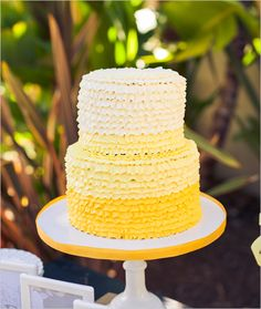 yellow ombré cake by Sweet and Saucy Shop