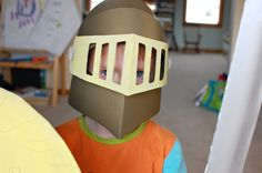Diy knight helmet costumes pinterest costumes for Paper knight helmet template