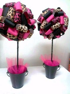 61 Trendy ideas for baby shower centerpieces for girls center pieces ribbon topiary Cheetah Birthday, Cheetah Party, Baby Shower Parties, Baby Shower Themes, Baby Shower Gifts, Shower Ideas, Cheetah Baby Showers, Ribbon Topiary, Baby Leopard