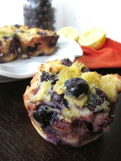 Paleo & Nut Free Lemon Blueberry Muffins  #VeggieStaples