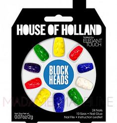 House Of Holland Nails By Elegant Touch - BLOCK HEADS  #houseofholland #eleganttouch #madamemadeline