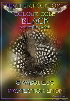 Black/White Feathers - Symbolizes protection, union.