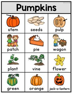 Pumpkin Writing Fall Preschool, Preschool Lessons, Autumn Activities, Activities For Kids, Sign Language Book, Classroom Word Wall, Halloween Worksheets, Tree Study, Writing Station