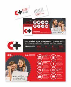 """C++, Informática, Mobile/Tablet e Consolas"" (""C++, Computing, Mobile/Tablet and Consoles"") | C++, Informática, Mobile/Tablet e Consolas (C++, Computing, Mobile/Tablet and Consoles) | [Logo] + [Business card] + [Ad] + [Facebook]"