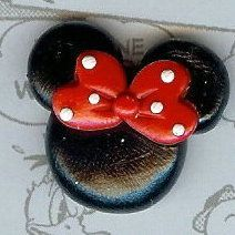 Classic Miss Mouse Polymer Clay Bow Centers, Beads, Chunky Pendants