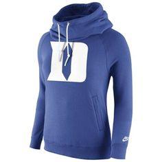 Duke Blue Devils Nike Womens Rally Funnel Hood-Rewind Sweatshirt – Royal Blue