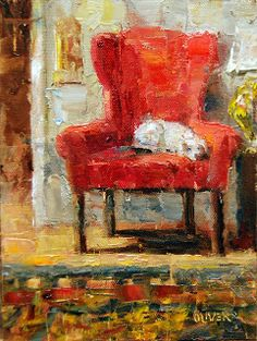 Art Talk - Julie Ford Oliver: Catching the Rays Impressionist Art, Painted Chairs, Fine Art Gallery, Beautiful Paintings, Still Life, Original Paintings, Abstract Art, Illustration Art, Artwork
