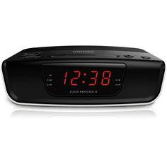 Philips AJ3123 Radio Réveil avec Tuner FM Numérique, Configuration Facile, Double Alarme, Batterie de Secours, Noir: Amazon.fr: TV & Vidéo