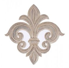 """Wall decor has never looked so good... Or so French! This exquisite symble, called the """"Fleur de Lis"""" (Pronounced Flur da Lis - the """"s"""" is not silent) was historically used with the French Monarchy, m"""