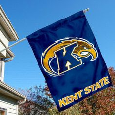 Kent State University Golden Flashes House Flag by College Flags and Banners Co.. $23.95. Viewable on Both Sides (LOGO is Reverse on Opposite Side, KENT STATE is Double-Sided). Single-Ply Polyester Material with 2-Ply Double Sided Bottom Panel. 30 (w) x 40 (h) Inches in Size with Top Pole Sleeve. School Logos are Screen Printed into Material. Officially Licensed by Kent State University. Kent State University Golden Flashes House Flag is 30x40 inches in size, i...