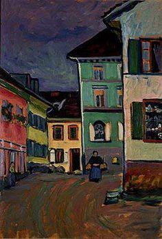 Painter Wassily Kandinsky. Murnau: Top of the Johannisstrasse. 1908