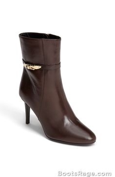 Hainult Leather Bootie - Women Boots And Booties