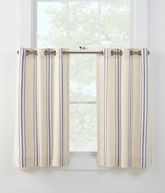 French Ticking Grommet Top Tier Curtains - Country Curtains®