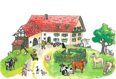 Startseite für Kinderseite Mansions, House Styles, Painting, Decor, Art, Educational Crafts, Kids Pages, Animales, Art Background