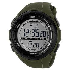 Men Climbing Sports Digital Wristwatches  Item Type:  Digital Wristwatches    Case Material:  Plastic    Dial Window Material Type:  Resin    Water Resistance Depth:  5Bar    Movement:  Digital    Dial Diameter:  50mm    Clasp Type:  Buckle    Feature:  B