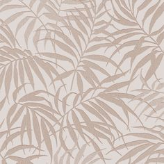 Graham & Brown Pure Beige Tropical leaf Metallic effect Smooth Wallpaper Cream And Gold Wallpaper, Rose Gold Wallpaper, Diy Wallpaper, Modern Wallpaper, Wallpaper Samples, Designer Wallpaper, Wallpaper Backgrounds, Wallpapers, Diy Tapete