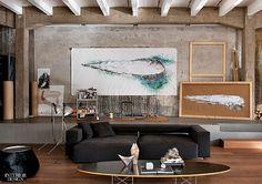 industrial style loft in Como - living room