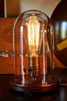 Edison Bell Jar Lamp van DanCordero op Etsy