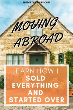 Ready to sell everything and move? Having a plan to move abroad is essential, especially if you want to sell everything and travel. Sell everything and start over with this tried-and-true process. Teaching Overseas, Moving Overseas, Moving To New Zealand, Work Abroad, Study Abroad, Living In London, Moving To Australia, Sell My House, Life Guide