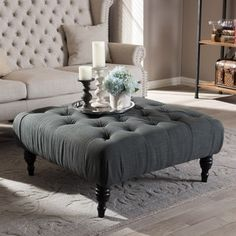 Shop for Baxton Studio Keswick Beige Linen Modern Tufted Ottoman. Get free shipping at Overstock.com - Your Online Furniture Outlet Store! Get 5% in rewards with Club O!
