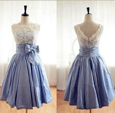Custom made short prom dress evening gown lace by Weddingbridal, $85.00