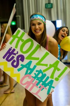 Holla! It's Alpha Chi #AlphaChiOmega #AChiO #BidDay #CaboBandz #sorority #CalPolySLO #TSL #TheSocialLife Together Lets, Tri Delta, Alpha Chi Omega, Sorority Recruitment, Bid Day, Greek Life, College Life, In The Heights, Let It Be