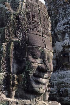 Face of Avalokitecvara, Bayon Temple, Angkor Thom, Angkor, Cambodia