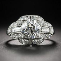 2.11 Carat Art Deco Engagement Ring GIA J - SI2