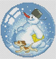 Gallery.ru / Шар.Снеговик-почтовик - Новогоднее - Norsvet