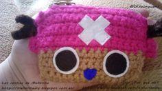 Monedero de Tony Tony Chopper. #ganchillo #ganchillear #crochet #manualidades #craft #knitting #diy #doityourself #hazlotumismo #onepiece #anime #manga #tonytonychopper