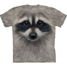 The 'Raccoon Face' t-shirt from The Mountain is a unique masterpiece created by the famous artist Vincent Hie. This pseudo 3D t-shirt will impresses with its amazingly realistic image of a raccoon! Its cute lively eyes, full of intrigue and desire want to be yours! The eye-catching tee will surely liven up your wardrobe! Get it now at the clothingmonster.com!