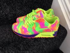shoes nike trainers neon