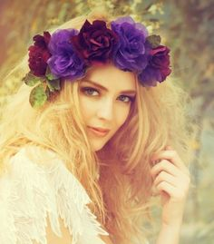 Milcah- Bridal Flower Crown, Wedding Head Wreath