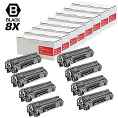 INKUTEN © 8PK - Replacement HP CF283 HP 83A 1.5k Yield Black Laser Toner Cartridge for LaserJet Pro M201dw, M201n, MFP M125a, MFP M125nw, MFP M125rnw, MFP M127fw, MFP M225dn, Pro MFP M127fn Printers