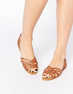 New Look   New Look Weave Flat Sandal at ASOS