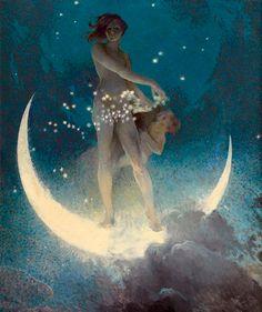 "- ""Spring Scattering Stars"" - Edwin Howland Blashfield (American) - 1927…"