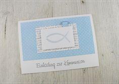 Einladungskarten - Einladung zur Kommunion - ein Designerstück von Carolas-Bastelstuebchen bei DaWanda