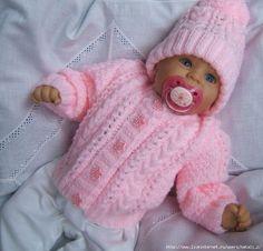 Knitting pattern for baby & # s u. Knitting pattern for baby & # s u. Baby Cardigan Knitting Pattern Free, Kids Knitting Patterns, Baby Sweater Patterns, Knitted Baby Cardigan, Knit Baby Sweaters, Baby Hats Knitting, Knitting For Kids, Baby Patterns, Hand Knitting