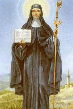 St. Burgundofara pray for us and Faremoutiers, France.  Feast day April 3.