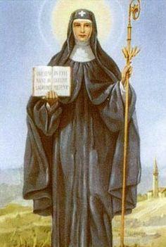 St. Burgundofara pray for us and Faremoutiers, France.  Feast day April 3.