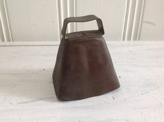 Vintage Cowbell Copper Rustic Farm Cowbell by CongenialVintage