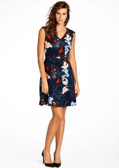 Mouwloze jurk met bloemenprint, LolaLiza