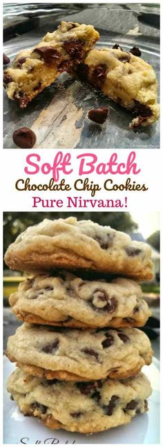 Soft Batch Chocolate Chip Cookies Pure Nirvana Delectable insane buttery rich thick softbatch chocolate chip cookies are pure Nirvana You wont want to miss out on these c. Chocolate Chip Cookies, Chocolate Chips, Baking Recipes, Dessert Recipes, Rice Recipes, Cookie Recipes, Delicious Desserts, Yummy Food, Homemade Chocolate