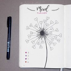 "117 Likes, 1 Comments - SunnySketches (@sketches.sunny) on Instagram: ""I decided to finally give my mood tracker its own page... But with a little twist of course -…"""