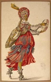 Bohémienne en costume de ballet Bellange Jacques (1575-1616) (école de) Paris, musée du Louvre, collection Rothsc