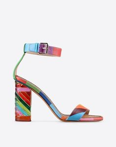 """Valentino Garavani - Psychedelic Plexi Sandal. All I see is """"ribbon candy"""" for the feet!!"""